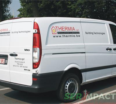 Serimpact - Lettrage sur véhicules